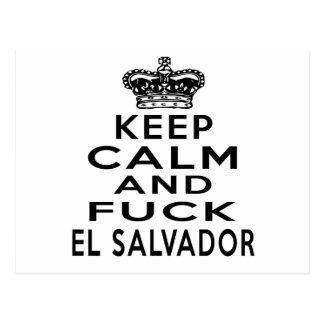 KEEP CALM AND EL SALVADOR POSTCARD