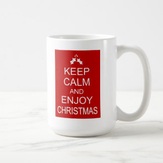 KEEP CALM AND ENJOY CHRISTMAS COFFEE MUG