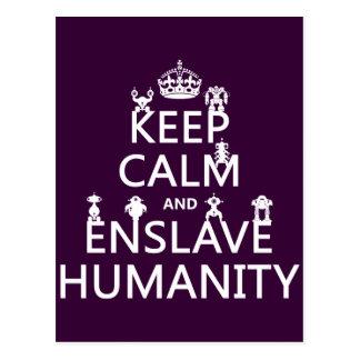 Keep Calm and Enslave Humanity (robots) Postcard