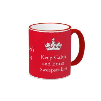 Keep Calm and Enter Sweepstakes Mug