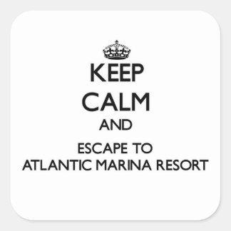 Keep calm and escape to Atlantic Marina Resort Mar Stickers