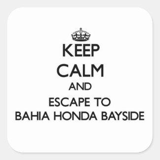Keep calm and escape to Bahia Honda Bayside Florid Square Stickers