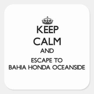 Keep calm and escape to Bahia Honda Oceanside Flor Stickers