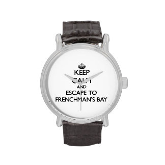 Keep calm and escape to Frenchman'S Bay Virgin Isl Wristwatch