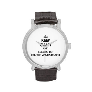Keep calm and escape to Gentle Winds Beach Virgin Wrist Watch
