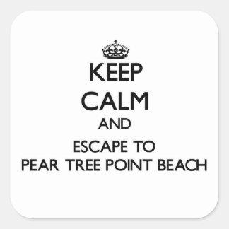 Keep calm and escape to Pear Tree Point Beach Conn Sticker