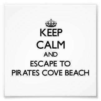 Keep calm and escape to Pirates Cove Beach New Ham Photograph