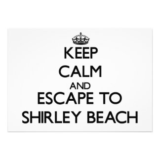 Keep calm and escape to Shirley Beach New York Personalized Invites