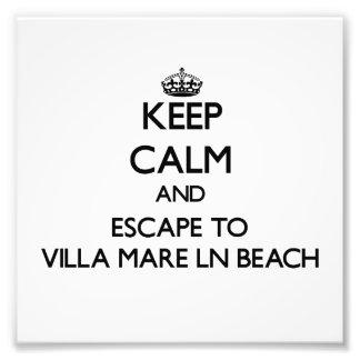 Keep calm and escape to Villa Mare Ln Beach Florid Art Photo