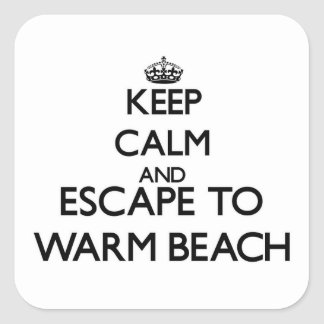 Keep calm and escape to Warm Beach Washington Sticker
