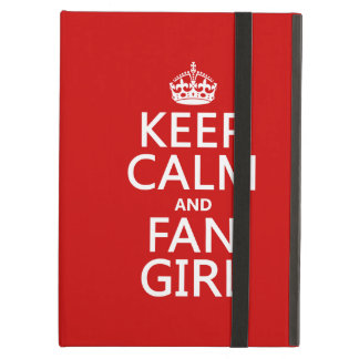 Keep Calm and Fan Girl (in all colors) iPad Air Case
