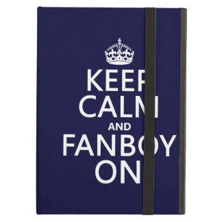 Keep Calm and Fanboy On in any color iPad Folio Cases