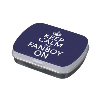 Keep Calm and Fanboy On (in any color) Jelly Belly Tin