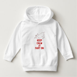 Keep Calm and Fart On with the cute French Bulldog Hoodie