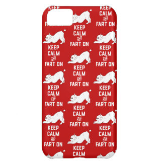 Keep Calm and Fart On with the cute French Bulldog iPhone 5C Case