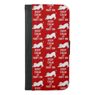 Keep Calm and Fart On with the cute French Bulldog iPhone 6/6s Plus Wallet Case