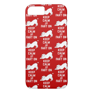Keep Calm and Fart On with the cute French Bulldog iPhone 8/7 Case