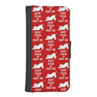 Keep Calm and Fart On with the cute French Bulldog iPhone SE/5/5s Wallet Case