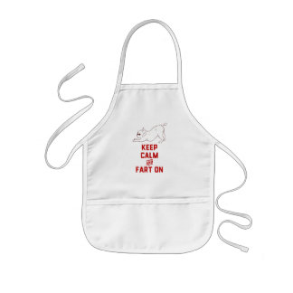 Keep Calm and Fart On with the cute French Bulldog Kids Apron