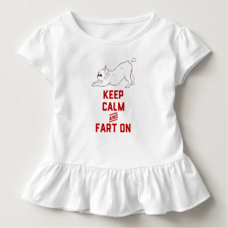 Keep Calm and Fart On with the cute French Bulldog Toddler T-Shirt