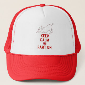 Keep Calm and Fart On with the cute French Bulldog Trucker Hat