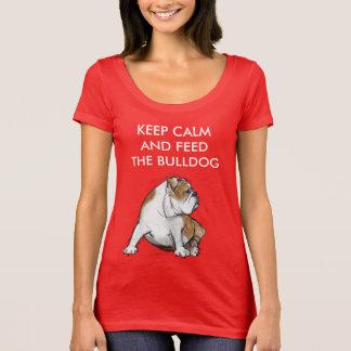 Keep Calm and Feed the Bulldog T-Shirt
