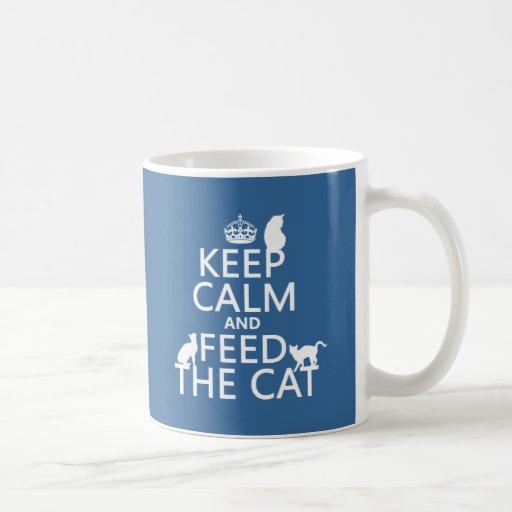 Keep Calm and Feed The Cat Mug