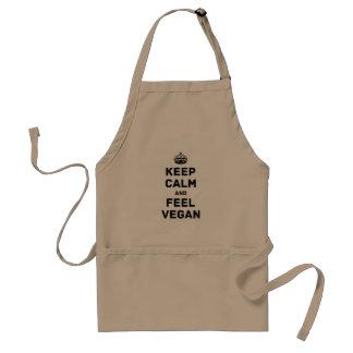 Keep calm and feel vegan standard apron