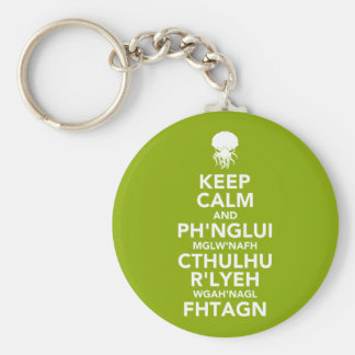 Keep Calm and Fhtagn Key Ring