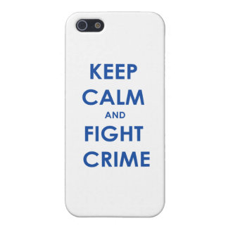 Keep calm and fight crime iPhone 5 covers