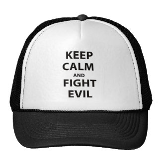 Keep Calm and Fight Evil Cap