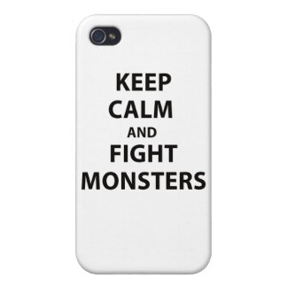 Keep Calm and Fight Monsters iPhone 4/4S Case