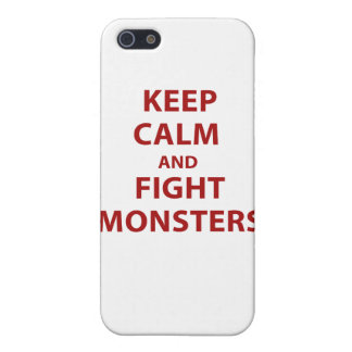 Keep Calm and Fight Monsters Cover For iPhone 5