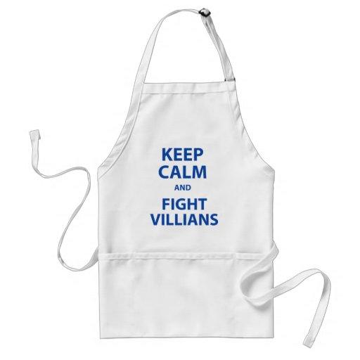 Keep Calm and Fight Villians Apron