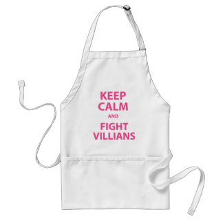 Keep Calm and Fight Villians Aprons