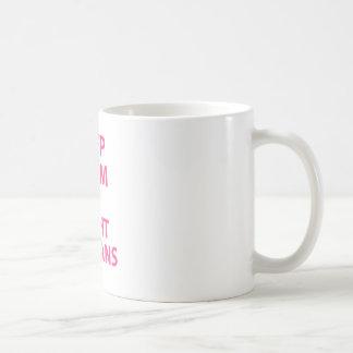 Keep Calm and Fight Villians Basic White Mug