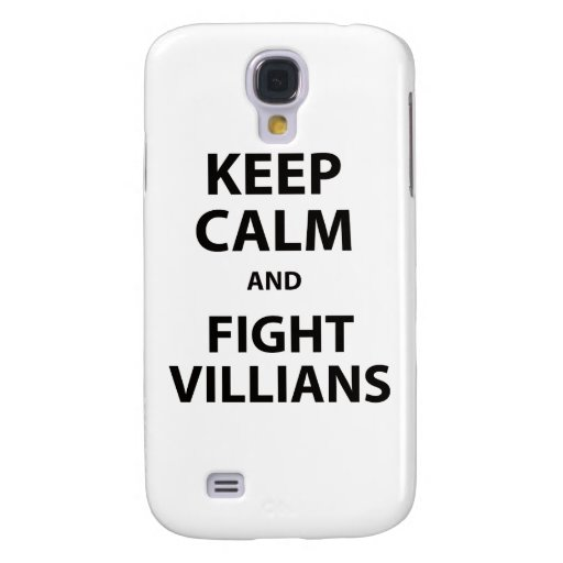 Keep Calm and Fight Villians Galaxy S4 Covers