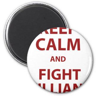 Keep Calm and Fight Villians Fridge Magnet