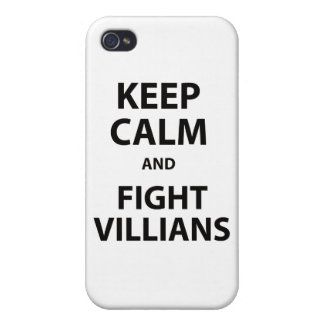 Keep Calm and Fight Villians iPhone 4/4S Case