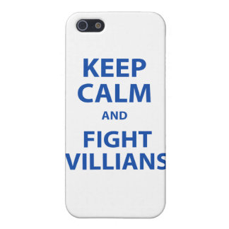 Keep Calm and Fight Villians iPhone 5 Covers