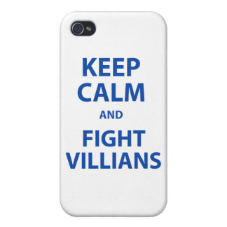 Keep Calm and Fight Villians iPhone 4 Cases