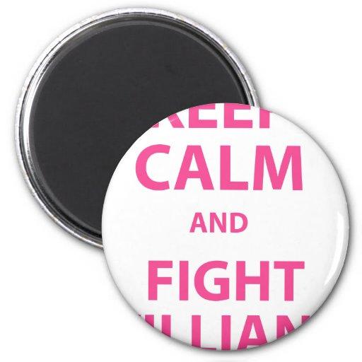 Keep Calm and Fight Villians Fridge Magnets