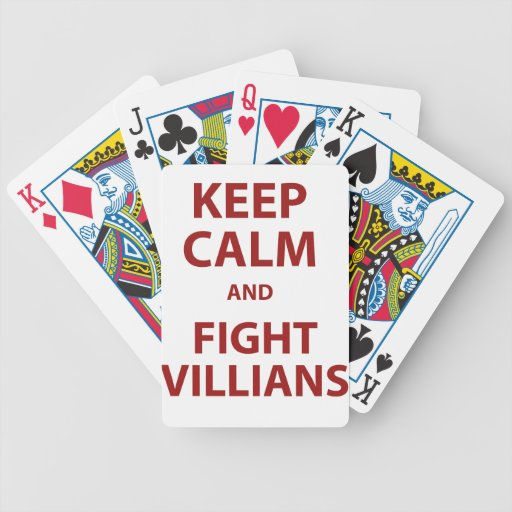 Keep Calm and Fight Villians Bicycle Card Deck