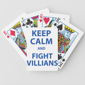 Keep Calm and Fight Villians Bicycle Playing Cards