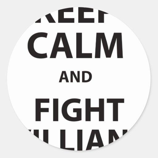 Keep Calm and Fight Villians Sticker