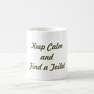 Keep Calm and Find a Toilet Basic White Mug