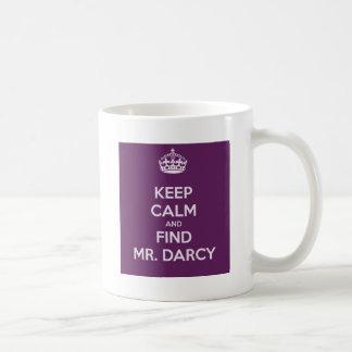 Keep Calm and Find Mr. Darcy Jane Austen Basic White Mug