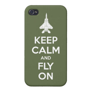 Keep Calm and Fly On (olive) iPhone 4/4S Covers