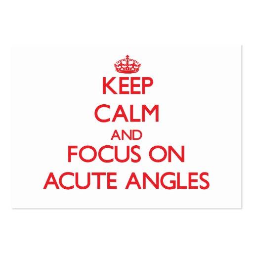 Keep calm and focus on ACUTE ANGLES Business Card Templates
