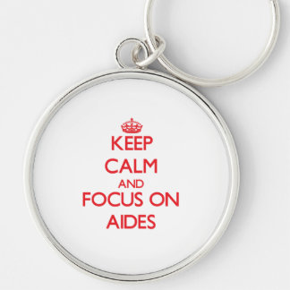 Keep calm and focus on AIDES Keychains